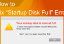 Fix 'Startup Disk Full' Error – The Easy Way